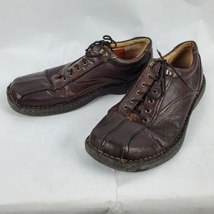 Clarks Brown Leather Lace Up Loafers